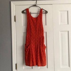 Free people orange dress
